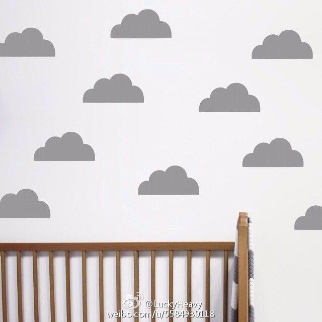 Cute cloud pattern Wall background Vinly obtisk nálepka film Vyjímatelný vodotěsný Žádné znečištění materiál pro dětské ložnice
