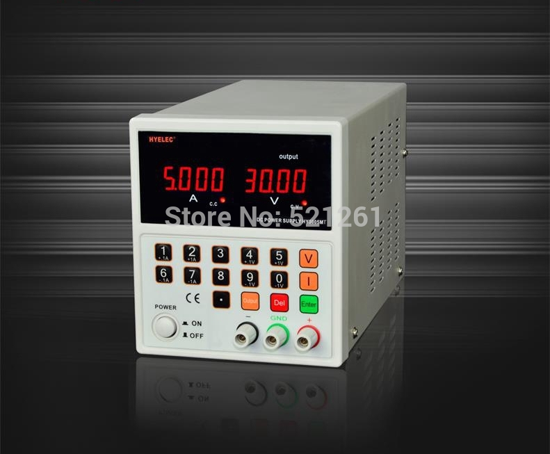 single CNC adjustable DC reply power supply switch  30V 5A  HY3005MT single output uninterruptible adjustable 24v 150w switching power supply unit 110v 240vac to dc smps for led strip light cnc