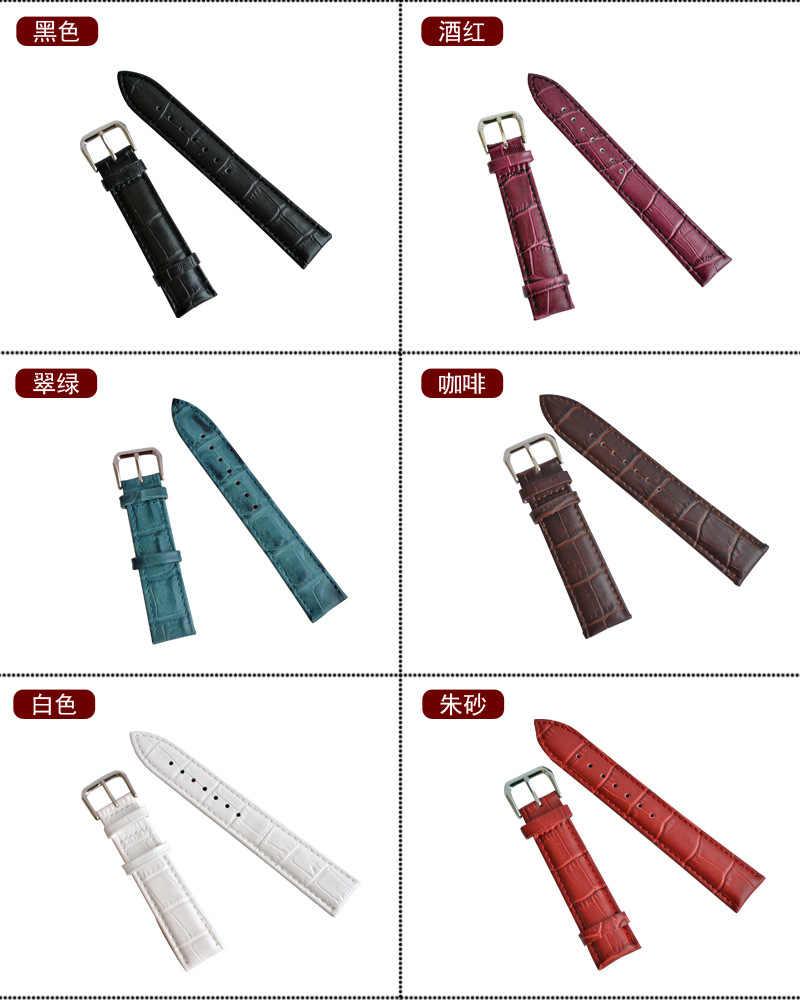 Ремешок из натуральной кожи для мужчин и женщин для часов lv, часы Casio Cartier dw tissot Omega Longines на липучке, Apple, samsung, moto, LG, ASUS, ремешок для часов