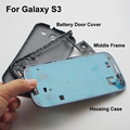Blue S3Full Housing Case Cover Front housing & Middle Frame & Battery Door  Replacement Parts For Samsung Galaxy S3 i9300