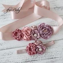 Модные женские туфли девушка, пояс цветок свадебный пояс, кушак пояса