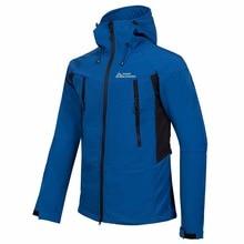 цены на 2017 Men's Hiking Trekking Camping Skiing Male Windbreaker Winter Softshell Fleece Jackets Outdoor Sportswear Coat  в интернет-магазинах