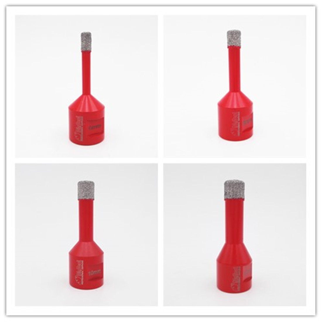 DIATOOL 1pc Vacuum Brazed Diamond Drilling Core Bits 10MM Diamond Height Hole Saw M14 Connection Drill Bits diatool vacuum brazed diamond drilling core bits with 15mm diamond height 20 25 35 45 55 75mm hole saw drill bits
