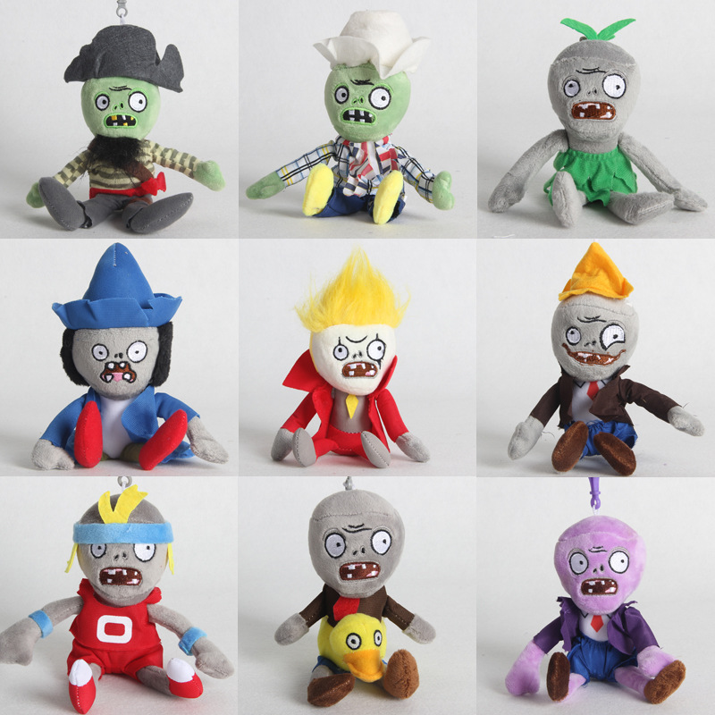1pcs18cm Plants Vs Zombies PVZ Hats Pirate Duck Zombies Plush Pendant Toy Soft Stuffed Toys Doll For Kids Children Gifts