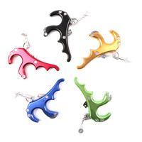 4 Finger Grip Caliper Arrow Release Aids for Compound Bow Hunting Archery Aluminum Archery Arrow 4 Finger Grip