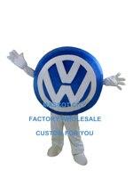 לוגו פולקסווגן לוגו רכב אוטומטי מותאם אישית לוגו מותאמים אישית קמע תחפושת קמע דמות מצוירת גודל מבוגרים קוספליי קרנבל תלבושות 3507
