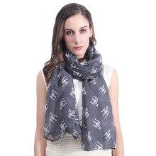 Бульдог Собака печати Для женщин шарф шаль Обёрточная бумага мягкий легкий для всех сезонов