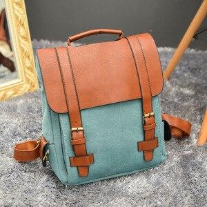Image 2 - Luxy księżyc rocznika kobiety Canvas plecaki dla nastolatek dziewczyny szkolne torby duże wysokiej jakości Patchwork plecak Escolares XA29H