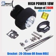Bosmaa LED Car External Headlight 18W w/ CREE Chips 6000K White Motorcycle Fog DRL Headlamp Spotlight Hunting Driving Spo