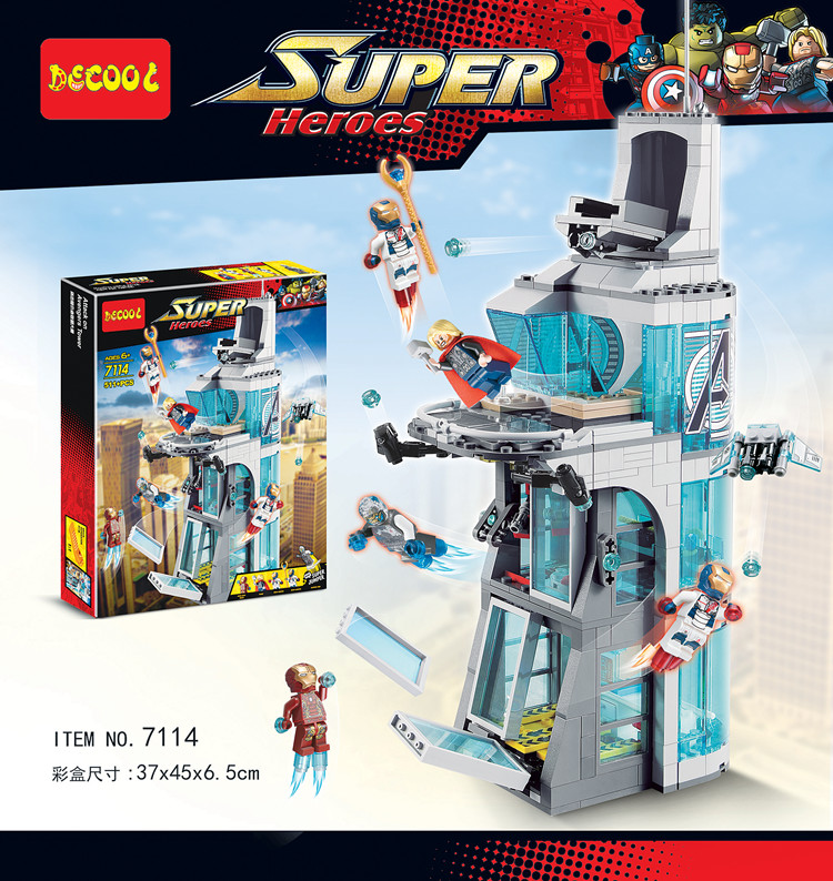 Marvel Avengers Iron Man building block Attack On Tower assemblage bricks model IronMan Base  compatible with super hero attach on avengers tower building blocks iron man tony stark bricks minifigures kid toy compatible with lego marvel