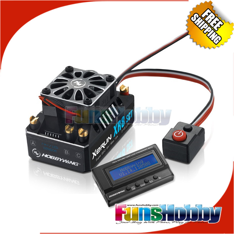 Hobbywing SCT XR8 140A Brushless ESC Speed Controller di Controllo E 3IN1 LCD Scheda Programma Per 1/8 1/10 RC Car Truck Auto Traxxas.-in Componenti e accessori da Giocattoli e hobby su  Gruppo 1