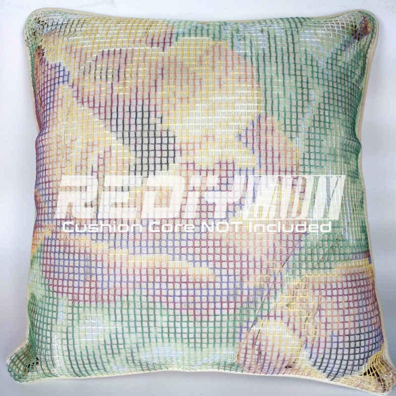 REDIY LADIY Latch Hook Cushion Kit Yarn for Embroidery Cushion Cover Night Owl Pillow Case Crochet Cushion Decorative Pillow