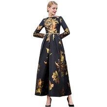 cdd80567c9ff6 Fantezi elbise 2018 sonbahar kadın zarif uzun elbise baskılı akşam elbise  düğün parti balo özel durum Maxi uzun elbise DL1091
