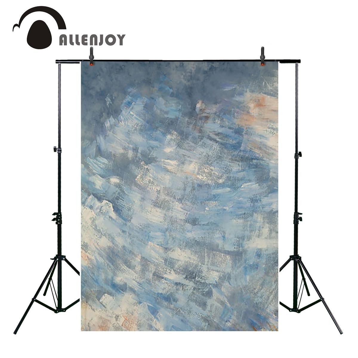 Allenjoy pastel blue blended texture photography backgrounds abstract Computer Print portrait baby shower backdrop photo studio smeg sjf01pbeu шнековая соковыжималка pastel blue