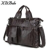 X. D. BOLO кожаная сумка-портфель мужская деловая мужская сумка-мессенджер Мужская s сумка на плечо 14 сумки для ноутбука Портфель s Мужская Сумка...