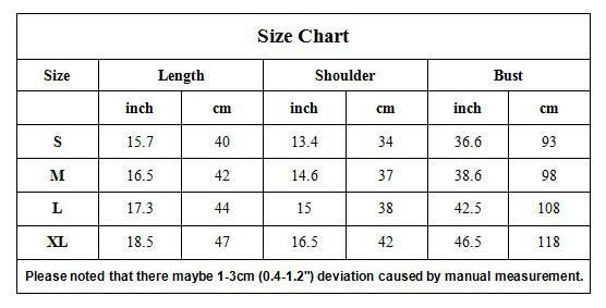 YQ30 Size chart