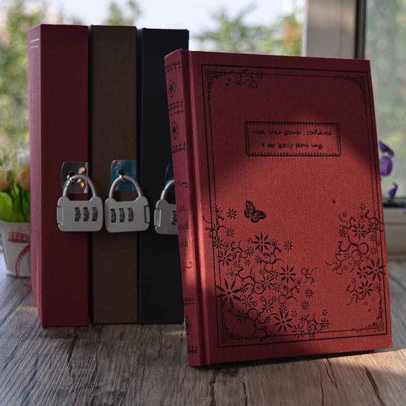 Mariyana New Diary Notebook With Lock Code Password 144 Sheets Secret Note Book Notepad Office School Supplies Gift