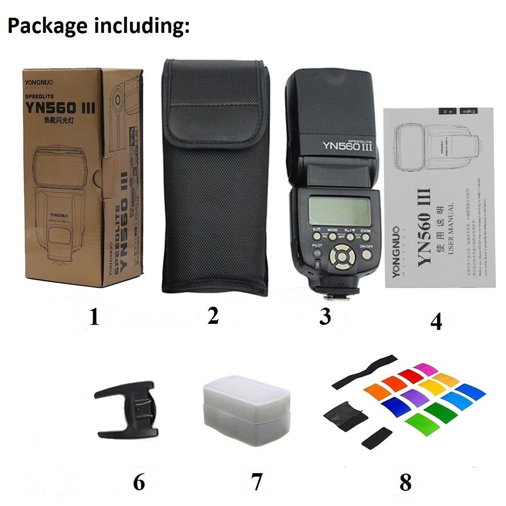 YONGNUO YN560III-iii YN560 III Wireless Flash Speedlite yn560 Speedlight Per Canon Nikon Olympus Panasonic Pentax Fotocamera