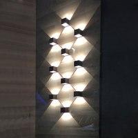 6W 10W led duvar Işık Su Geçirmez IP65 Modern Duvar Lambaları Oturma Odası Fuaye Sundurma Bahçe Lambası TV Arka Plan Duvar lambası|modern wall lamp|wall lampled wall light -