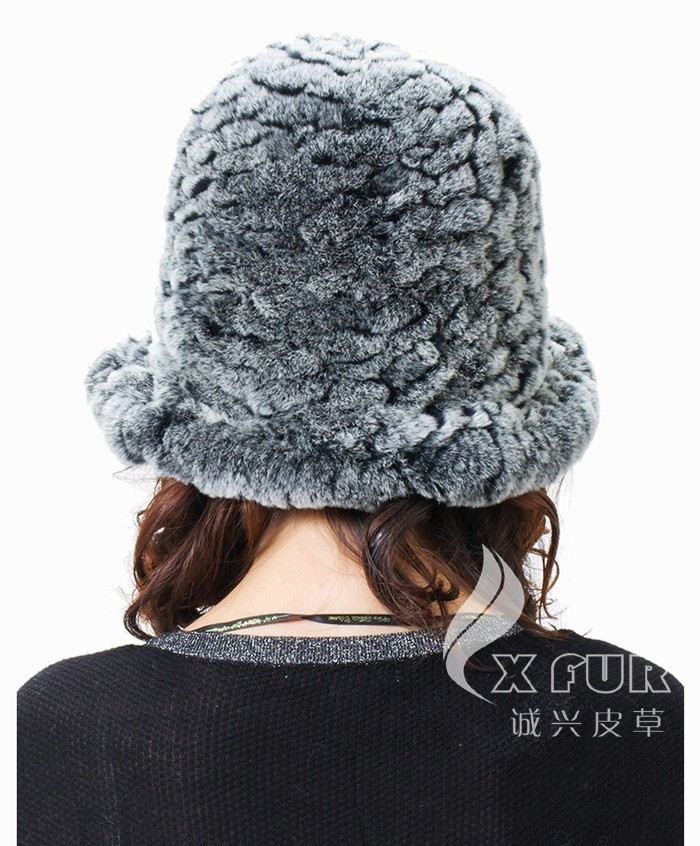 CX-C-27B для девочек, Модная вязаная шапка с кроликом Рекс, Корейская зимняя шапка