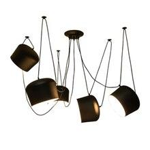 Modern Aluminum Pendant Lamp Black/white Led Pendant Lights Restaurant Living Room Cafe Bar Suspension Light Fixtures Luminaire стоимость