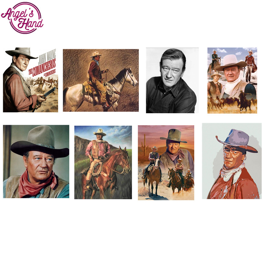diamond painting eigen foto American star John Wayne custom diamond ...