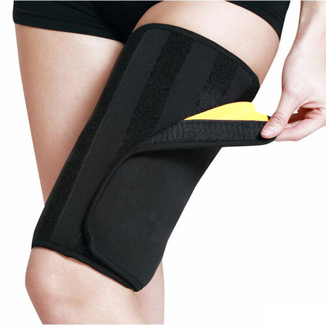 68b0652665 Effective Woman Leg Shaper Sauna Sweat Slimming Thigh Belt Body Shaper  girdle Slim Shapewear Thermo Compress