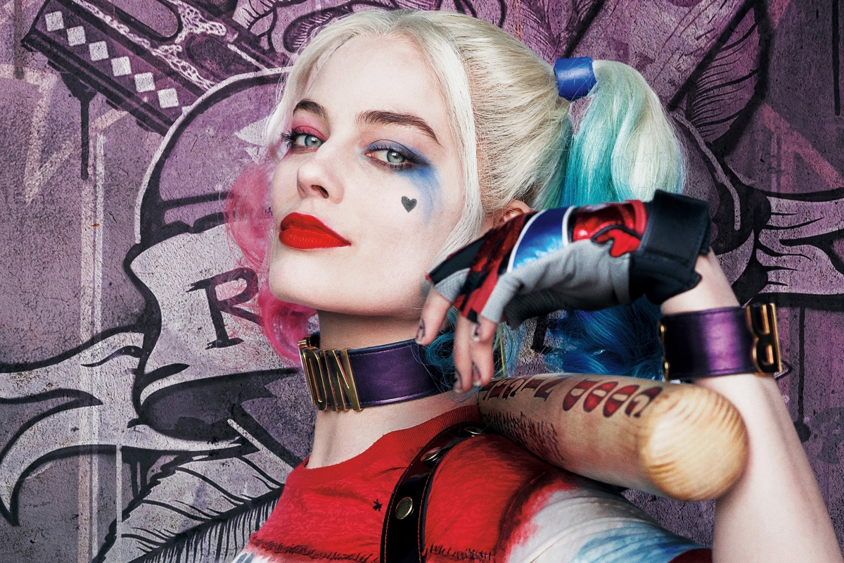harley quinn margot robbie suicide squad comic girl costume XZ09 Room living room home wall art decor wood frame fabric posters