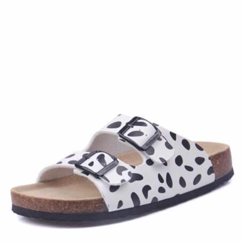 FeiYiTu 新夏ビーチコルクスリッパサンダルカジュアルダブルバックル下駄 Sandalias 女性フリップ靴サイズ 35 -45
