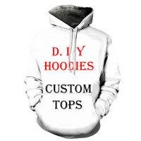 Stampa 3D Fai Da Te Personalizzati Mens di Disegno Delle Donne Abbigliamento Hip Hop Felpa Con Cappuccio Trasporto di Goccia Grossisti Fornitori Per Drop Shipper