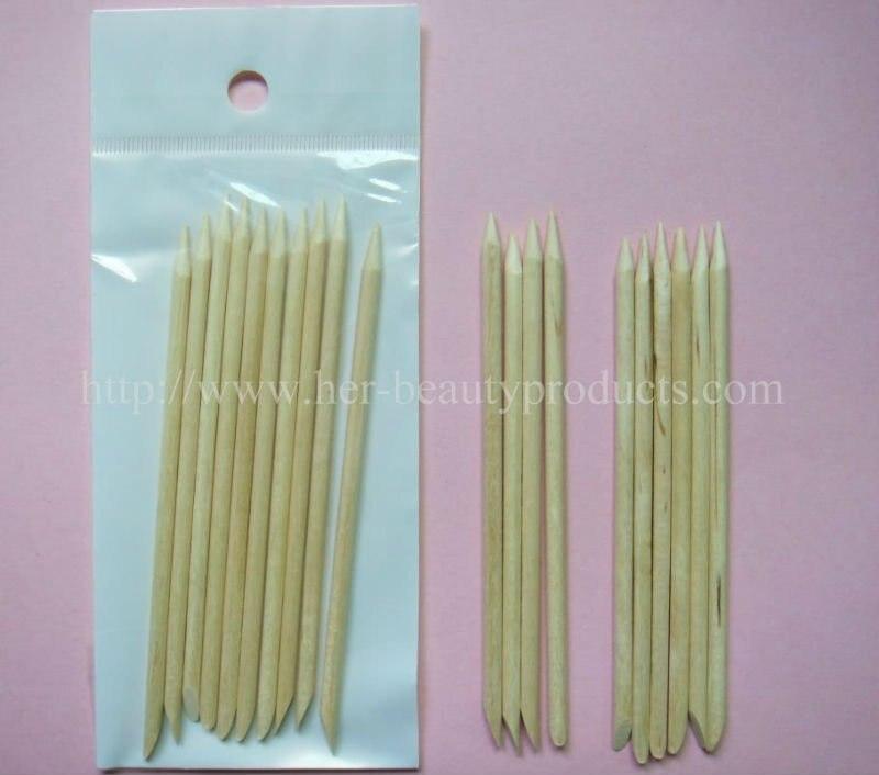 Free Shipping 30bags(300pcs) x 11.5cm Orange Wooden Nail Art Sticks Manicure Stick for Nail Care-Wholesale