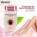 Kemei dual heads Shaver Electric Epilator Hair Callus Removal Foot Care Tool  Foot Care Set Hair Removal Pedicure Machine P