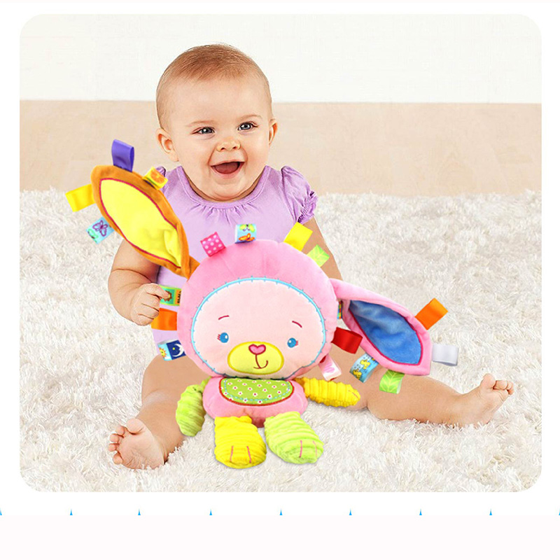 8 Kinds Baby Cheerful Rocking With Bibi Sound Soft Gentle Rattle Plush Toy Cute Animals Baby Brinquedos