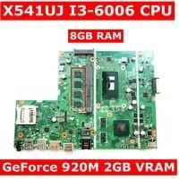 X541UJ MB._8G/I3 6006U/AS V2G 90NB0ER0 R02200 mainboard For Asus X541UVK X541UJ X541UV laptop motherboard 100% Tested