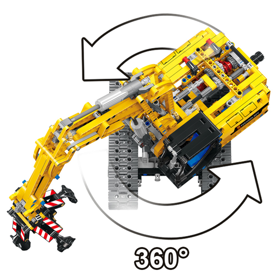 Image 4 - Excavator Car Compatible With Legoing Technic 42006 Truck Model Building Blocks Boys Birthday Gifts Toys For Children-in Blocks from Toys & Hobbies