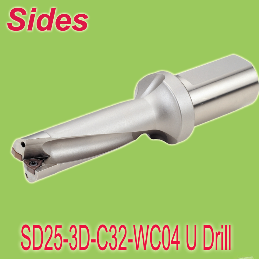 Free Shiping 25mm 3x Depth U Drill  Indexable Productive Stack Drill Bit With Maximized Chip Evacuation For WCMX040208 Inserts  free shiping u urill 18mm 72mm depth 4x t max u magic rapid drill blind hole making tool for spmg060204 drilling inserts