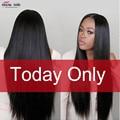 7A Grade Indian Straight Virgin Hair 3 Pcs/lot Virgin Hair Bundle Deals Unprocessed Natural Black Indian Virgin Hair Straight