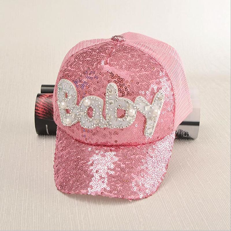 2017 Fashion Casual Unisex Hats Casquette girls children   baseball     cap   with Hot Diamond Baby Hats hip hop   caps   pepe boby