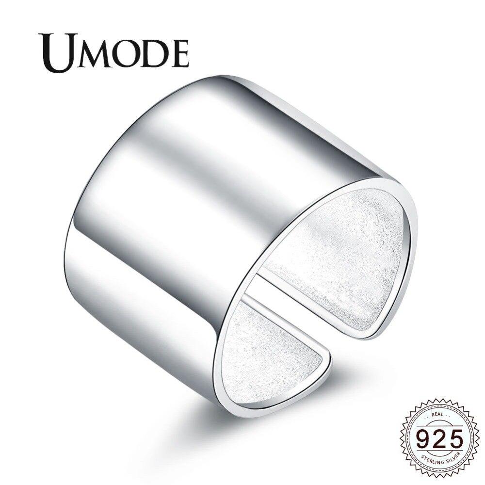 Bague de fiançailles 925 en argent Sterling de marque de luxe UMODE pour femmes simples hommes unisexe accessoires bague femme argent 925 ULR0329