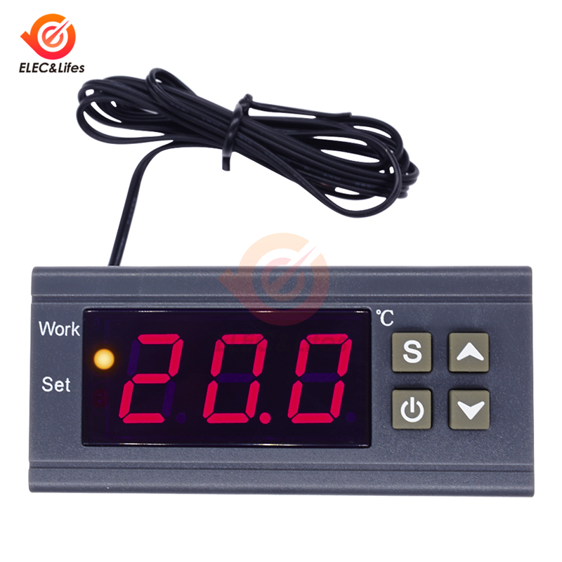 Digital Thermostat MH1210W AC 110-220V DC 9-72V 10A Temperature Controller Switch Temp Meter Thermoregulator For Incubator Box