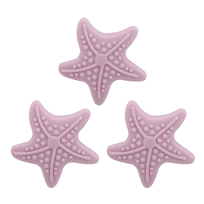 Cute Starfish Shape Silicone Handle Door Lock Creative Wall Thickening Mute After The Protection Pad Wall Stickers