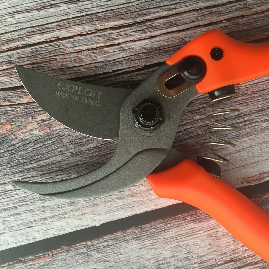 Купить с кэшбэком High hardness Professional Garden scissors flower twig clipers Bent Handle SK5 Alloy Steel blades