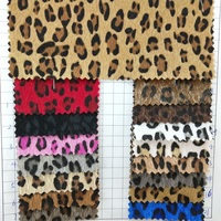 91x134cm Synthetic Leather Vinyl Fabric Fur Leather, Fur Fabric with Printed Leopard Grain for Bows DIY accessories P2199