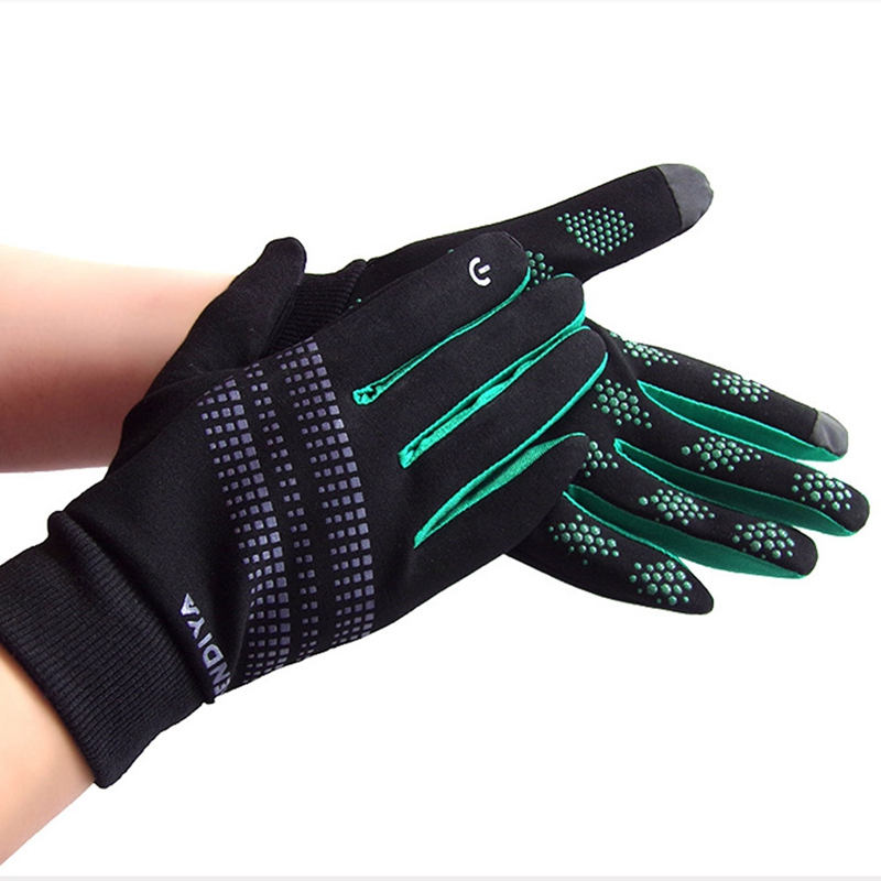 Men Women Outdoor Sports Gloves Warm Windproof Cycling Hiking Climbing Running Ski Full Finger Gloves