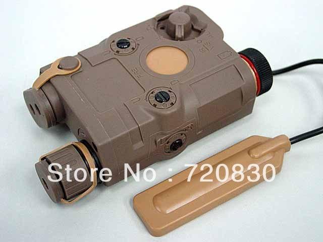 PRO&T AN/PEQ-15 Red Dot Laser & LED Flashlight Tan BK tb fma an peq 15 upgrade version led white light