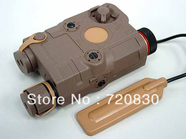 PRO&T AN/PEQ 15 Red Dot Laser & LED Flashlight Tan BK