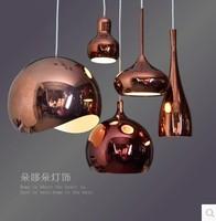 Modern Tom DIXON Melt Pendant Lights Glass Lava Irregular Silver Gold Copper Mirror Hang Lamp for Living Room Lighting