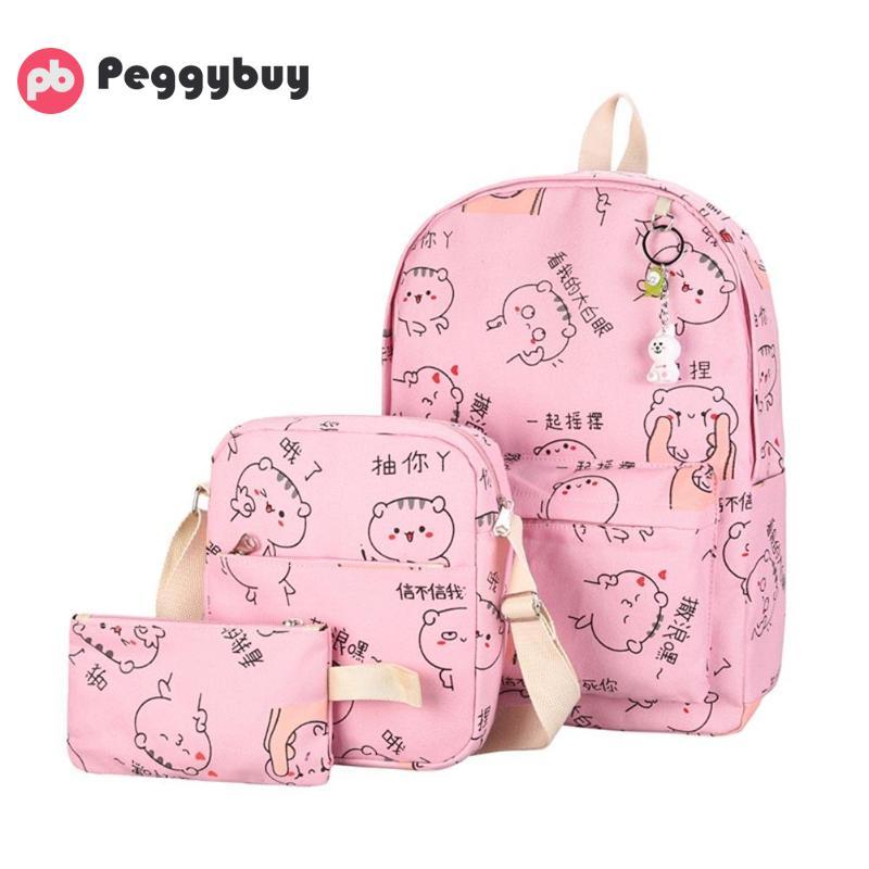 3pcs Women Bag Set Canvas School Backpacks For School Teenagers Rucksack Mochila Fashion Back Bags Mochilas Notebook Mujer 2018