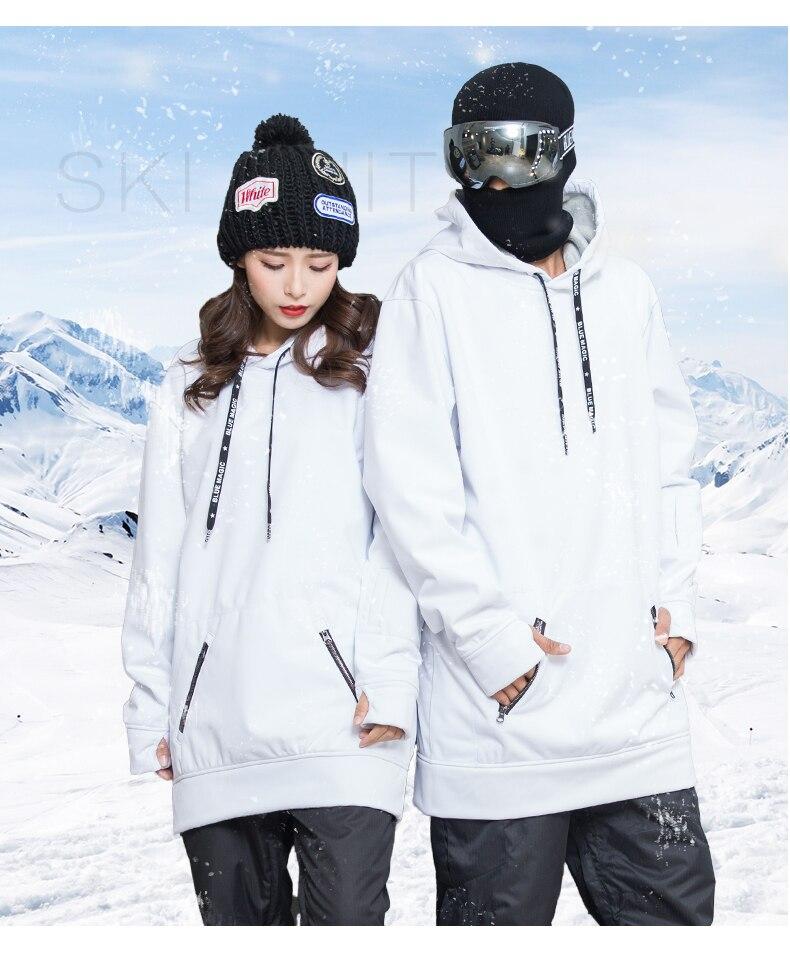 Bluemagic сноуборд мягкая оболочка Комбинированная ткань Длинная толстовка для женщин и мужчин водонепроницаемые толстовки ветрозащитные лыжные костюмы