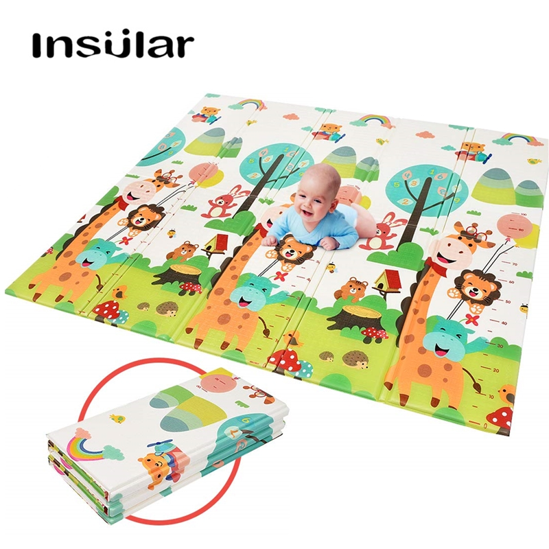 150 200 1 cm Infant Baby Folding Play Mat XPE Foldable Child Crawling Mat Waterproof Non